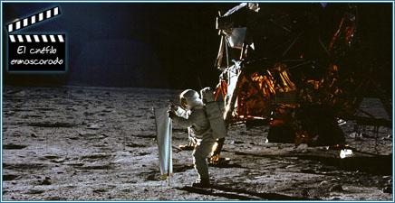 """Armstrong y el módulo lunar """"Eagle"""" en la Luna"""