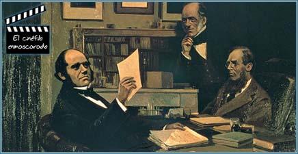 Darwin leyendo la carta de Wallace