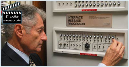 Leonard Kleinrock con el IMP, un componente de ARPANET