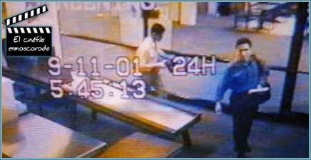 Mohamed Atta y Abdulaziz Al-Omari en el aeroouerto Logan el 11 de septiembre