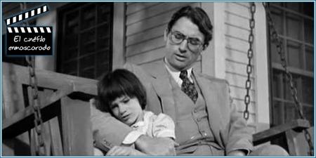 Atticus con su hija Scout