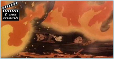 La familia de Gen atrapada en el fuego