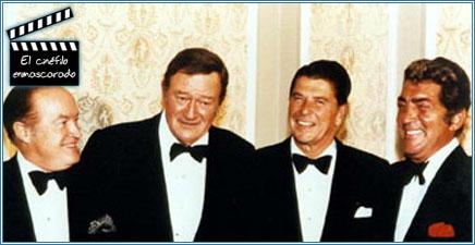 Bob Hope, John Wayne, Ronald Reagan y Dean Martin