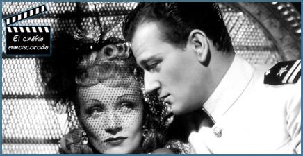 """Dietrich y Wayne en """"Siete pecadores"""" (1940)"""