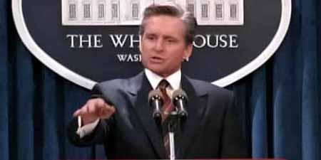 """Michael Douglas en """"El presidente y Miss Wade"""""""