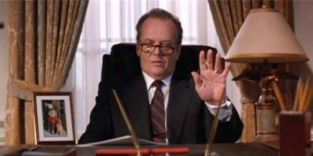 "Jack Nicholson en ""Mars Attacks"""