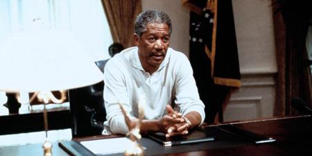 "Morgan Freeman en ""Deep Impact"""