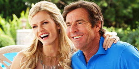 Brooklyn Decker y Dennis Quaid