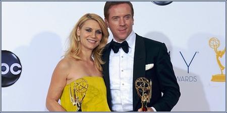 Claire Danes y Damian Lewis, Premios Emmy 2012