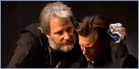 Jeff Daniels y Noah Segan