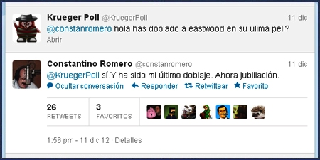 Constantino Romero se retira