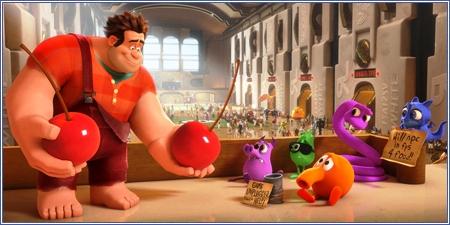 Los personajes de Q*bert, ¡Rompe Ralph!