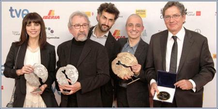 Maribel Verdú, José Sacristán, Ibón Cormenzana, Pablo Berger y Gerardo Herrero