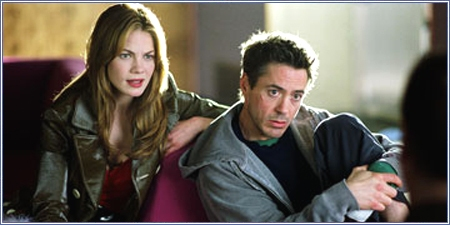 Michelle Monaghan y Robert Downey Jr.