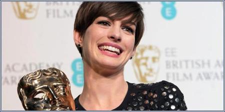 Anne Hathaway mejor actriz de reparto por 'Los miserables'.