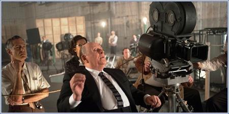 """Alfred Hitchcock en pleno rodaje de """"Psicosis"""""""