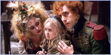 Helena Bonham Carter, Isabelle Allen y Sacha Baron Cohen