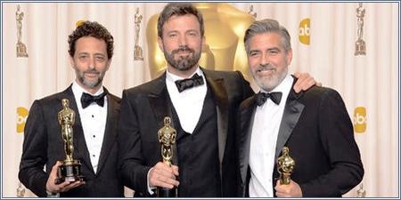 Grant Heslov, Ben Affleck y George Clooney, productores de Argo