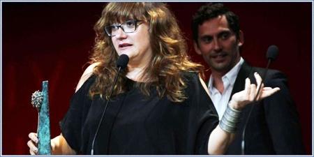 Isabel Coixet recogiendo el premio especial del jurado
