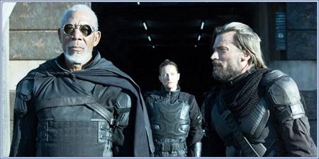 Morgan Freeman y Nikolaj Coster-Waldau, Oblivion
