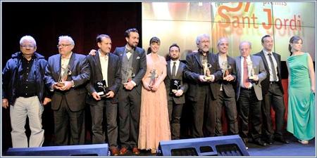 Galardonados con los Premio Sant Jordi 2013