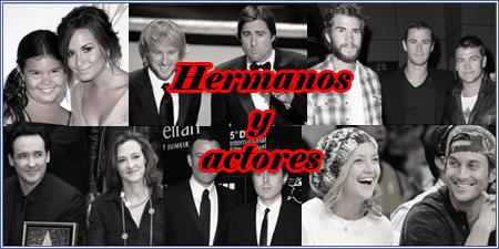 Hermanos y actores