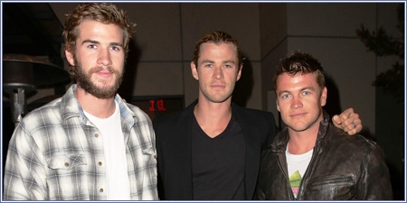Liam, Chris y Luke Hemsworth
