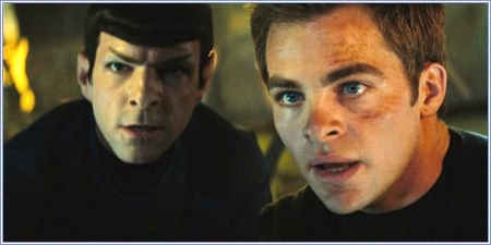 Zachary Quinto y Chris Pine, son Spock y Kirk