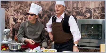 Michaël Youn y Jean Reno
