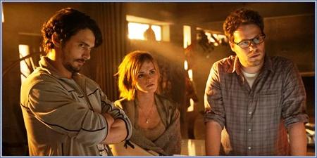 James Franco, Emma Watson y Seth Rogen