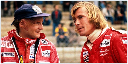 Los autenticos Niki Lauda y James Hunt