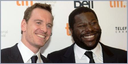 El actor Michael Fassbender y el director Steve McQueen