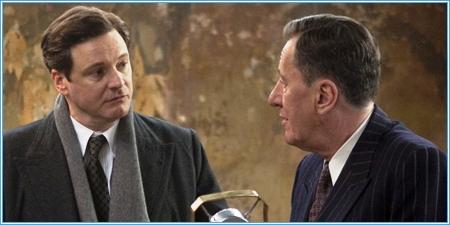 Colin Firth y Geoffrey Rush