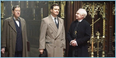 Geoffrey Rush, Colin Firth y Derek Jacobi