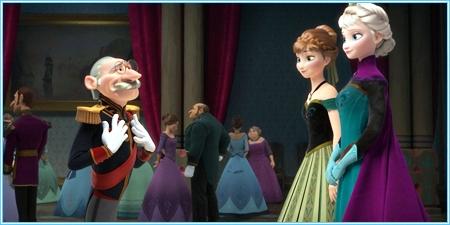 El Duque de Weselton, Anna y Elsa