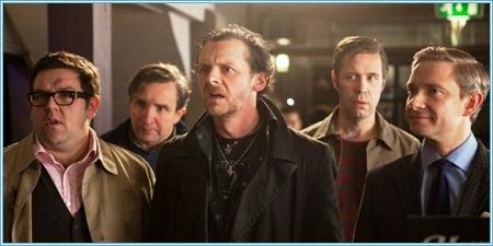 Nick Frost, Eddie Marsan, Simon Pegg, Paddy Considine y Martin Freeman