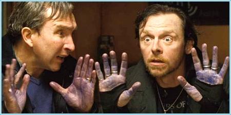 Eddie Marsan y Simon Pegg