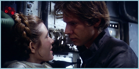 Carrie Fisher y Harrison Ford (Leia y Han Solo)