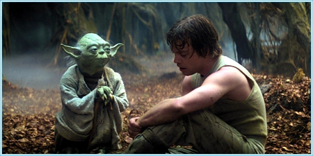 Yoda y Luke Skywalker