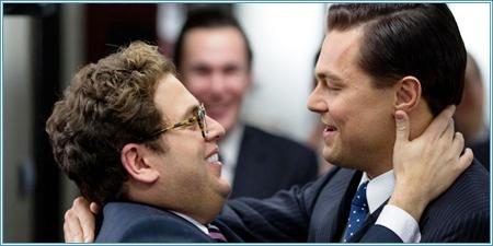 Jonah Hill y Leonardo DiCaprio
