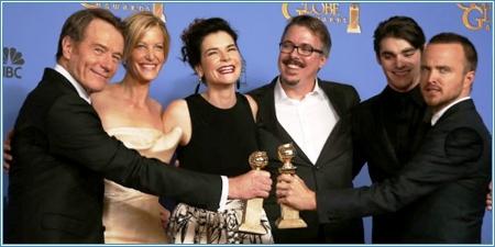 """El elenco de """"Breaking Bad"""" y sus dos premios"""