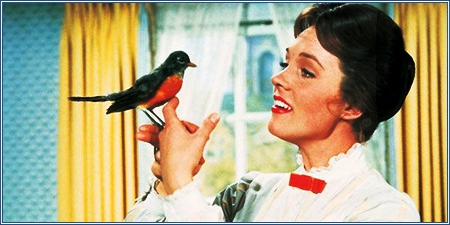 Julie Andrews es Mary Poppins