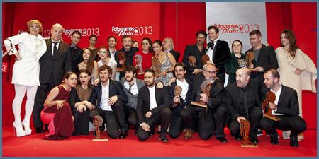 Ganadores y entregantes de los Fotogramas de Plata 2013