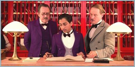 Tom Wilkinson, Tony Revolori y Owen Wilson