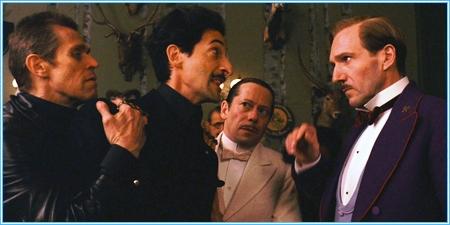 Willem Dafoe, Adrien Brody, Mathieu Amalric y Ralph Fiennes