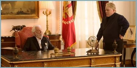 Donald Sutherland y Philip Seymour Hoffman