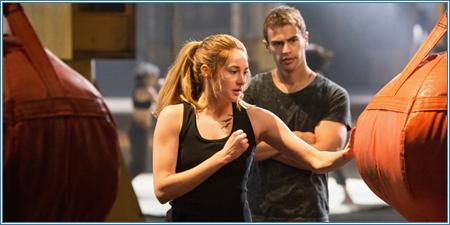 Shailene Woodley y Theo James son Tris y Cuatro