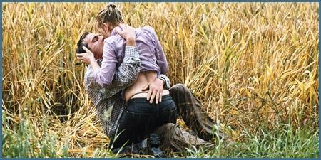 Jonathan Rhys Meyers y Scarlett Johansson