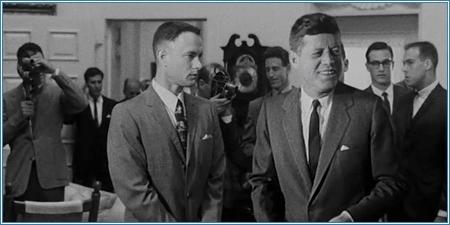 Forrest Gump y J.F. Kennedy