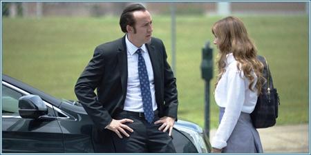 Nicolas Cage y Aubrey Peeples